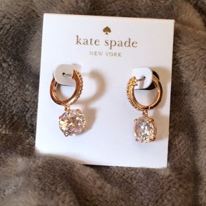 NWT Kate Spade Crystal Drop Earrings Rose Gold